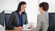 Jobs: Women interviewing someone