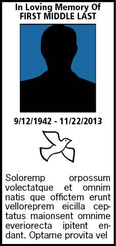 Hartfordcourant portal in memoriam in memoriam for In memoriam cards template