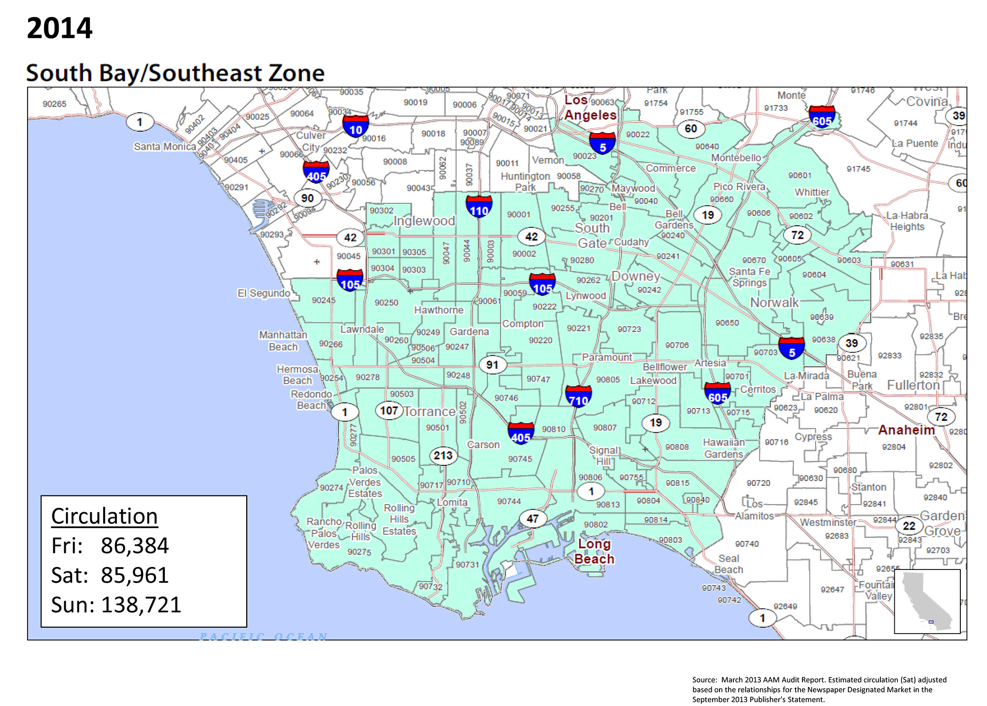 Placeanadlatimescom Saturday - Los angeles dma map