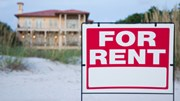 Vacation Rentals and Sales: Vacation home with for rent sign
