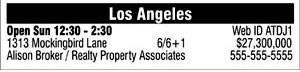 Sample Directory Ad
