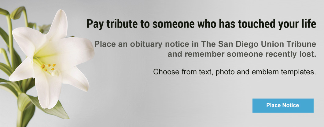 Place an Obituary or In Memoriam